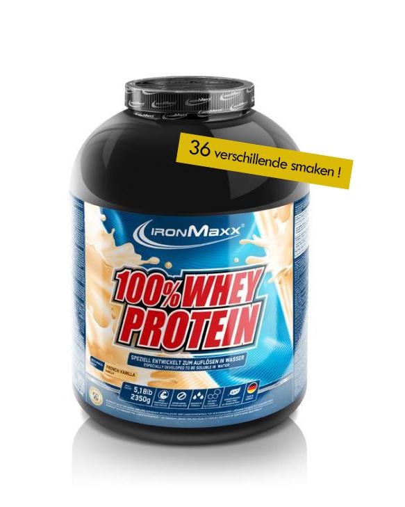 Voeding en dieet-inshapemetpat-100% Whey proteïne 2,350kg-36 smaken